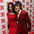British musician Ronnie Wood and wife Sally, arrive on the red carpet for the 2013 Q Awards in London. Photo / AP