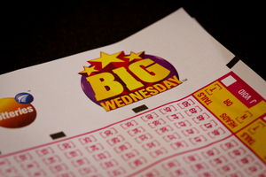 Big Wednesday Lotto ticket. File Photo / NZ Herald