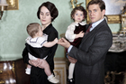 Michelle Dockery as Lady Mary and Allen Leech as Tom Branson in 'Downton Abbey'.
