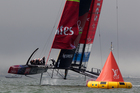 Emirates Team New Zealand in action during the recent America's Cup racing. Photo / Brett Phibbs