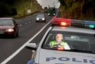 Sergeant Mike Owen patrols the area's highways ahead of the long weekend. Photo / John Boren
