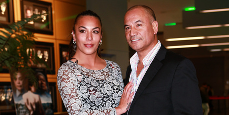 Ashlee Howden-Sadlier and Temuera Morrison, the stars of the reality show featuring the actor. Photo /  APN