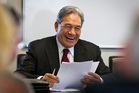 Winston Peters has a bottom line.