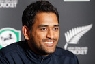 MS Dhoni. Photo / NZPA