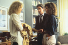 Glenn Close, Michael Douglas and Anne Archer in the classic thriller 'Fatal Attraction'.