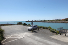 The carpark at the end of Whakarire Ave, Westshore, Napier, where French tourists were assaulted.  Photo / Duncan Brown