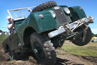 Land Rover buff Mark Warren tilts a wheel or two as he puts his 1953 Series One workhorse through its paces yesterday at the Hawke's Bay Showgrounds in Hastings.