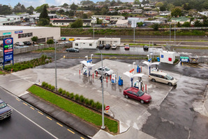 Two Gull drive-through service stations similar to this one in Pukekohe are to be auctioned.