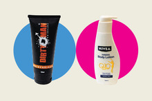 Dirty Man Moisturiser; Nivea Skin Firming Body Lotion. Photos / Doug Sherring