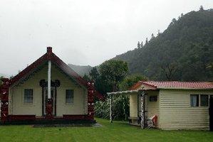 Maranganui, the meeting house at Pungarehu Marae, was renovated in the 1980s.