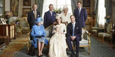 The royal family following the christening of Prince George.Photo / Jason Bell
