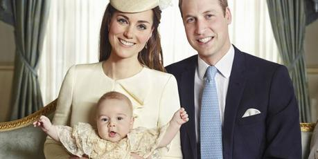 Kate Middleton, Prince William and their son, Prince George.Photo / Jason Bell