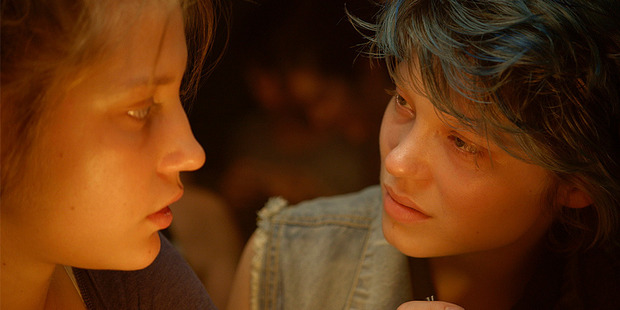 Adele Exarchopoulos and Lea Sedoux in a scene from Blue is the Warmest Colour. Photo / AP