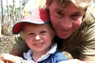 Steve Irwin with Robert in August 2006, a month before he died. Photo / Getty Images