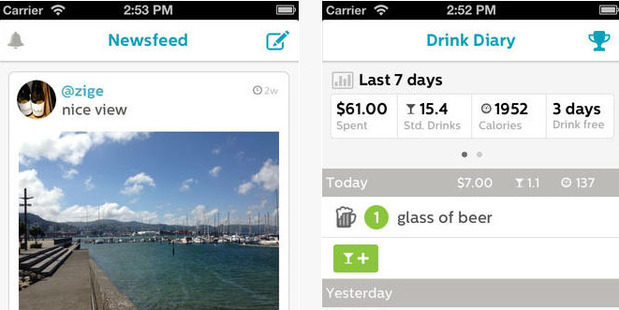 Screen shots from the new DrinkSmart app.Photo / drinksmart.co.nz