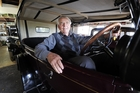 Octogenarian Jack Hoven loves it behind the wheel of his vintage car Rosie Studebaker. Photo / George Novak