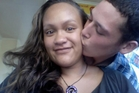The death of Casey Nathan, pictured with partner Hayden Tukiri, is under investigation. Photo / APN