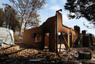 A home destroyed by bush fire as seen in Winmalee, Australia. Photo / Getty Images
