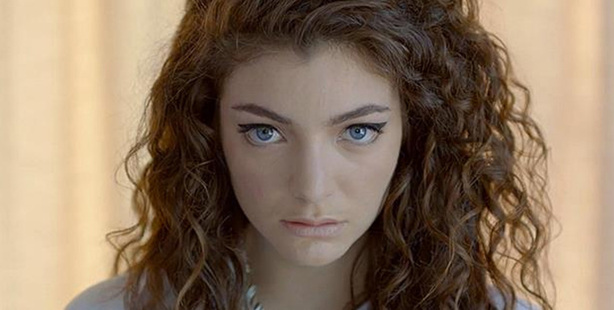 Lorde in a still from the video for Royals.