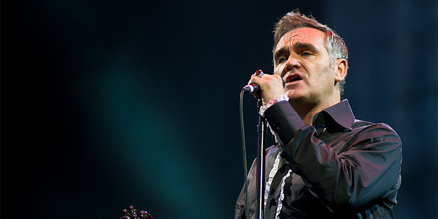 Morrissey performing live. Photo / AP