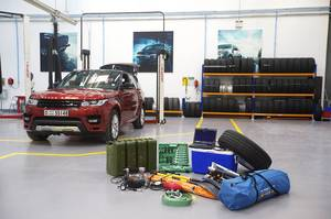 The Range Rover Sport and  the survival gear that needed to traverse the desert. Photo / Supplied