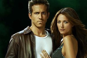 Ryan Reynolds and Blake Lively in a promotional image for The Green Hornet.