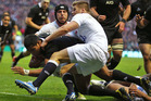 The All Blacks were dealt a 38-21 defeat to England last time they played at Twickenham. Photo / Getty Images