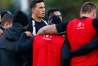 Sonny Bill Williams watches on during the Kiwi training session. Photo / Getty Images