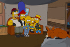 A scene from The Simpsons.