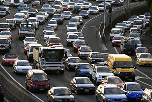 Traffic is in gridlock in parts of Auckland as the Armageddon expo hits town. Photo / File