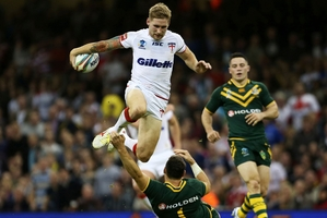 Hot-stepping England fullback Sam Tomkins looks set to spark the Warriors in the NRL. Photo / AP