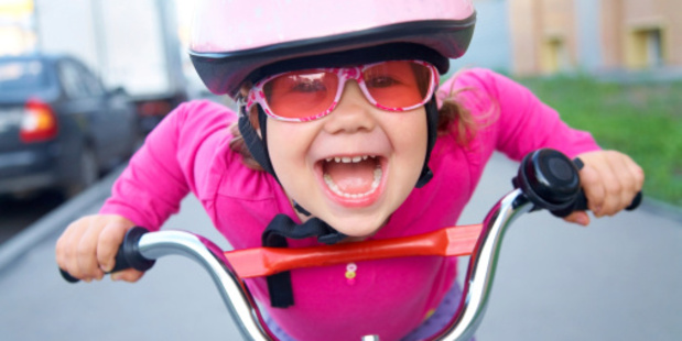 As long as kids wear helmets, bike are safe and fun. Photo / Thinkstock