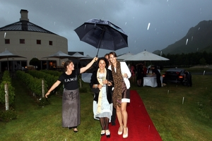 PARTY: The F.A.W.C! Summer Series launched last night, despite the rain, with 450 guests at Craggy Range Winery near Havelock North.PHOTO/PAUL TAYLOR HBT133919-19