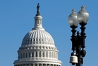 Anti-spying protesters at the US Capitol were monitored by surveillance cameras. Photo / AP