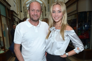 Scot Young, pictured with girlfriend Noelle Renne in London. Photo / AP