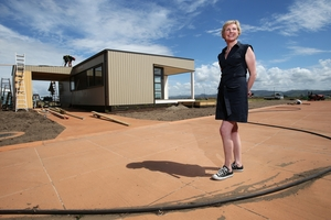 DEVELOPMENT: Juliette Yarrell shows off the new 6.5 hectare retirement village in Papamoa.PHOTO/JOEL FORD