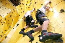 Rock-climbing is great fun.