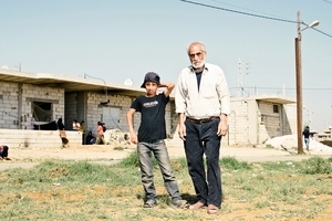 Syrian refugee Bandar  despairs at the brutality his grandson Bandar  jnr has seen.