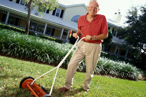 Simple tasks like mowing the lawn will keep you healthy - research.Photo / Thinkstock