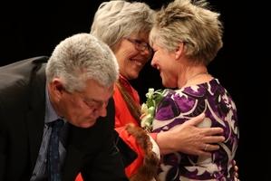 NEW ERA: Whangarei District Council chief executive Mark Simpson swears in new Mayor Sheryl Mai (centre) and her Deputy Mayor Sharon Morgan yesterday. PHOTO/JOHN STONE