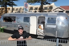 OPEN FOR BUSINESS: Dave Halstead and his Silver Bullet Coffee Co caravan on Napier's Marine Parade. PHOTO/DUNCAN BROWN HBT133494-01