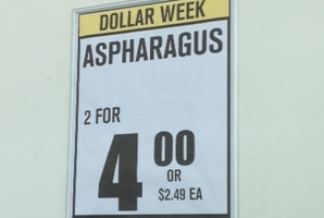The asparagus special gets an exotic spin at Pak'n Save in Takanini.