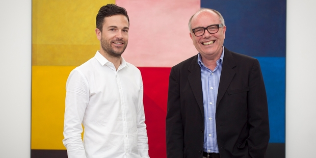 Simon Fisher, left, and Chris Taylor have nearly 150 galleries on their books but want to extend their web-based art dealing to even more. Photo / Natalie Slade