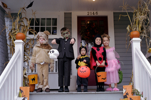 Children are ready to go trick or treating around the country to mark Halloween.