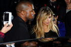 Kanye West and Kim Kardashian. Photo / AP