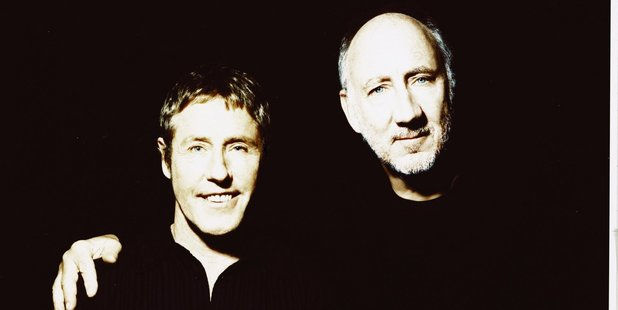 Roger Daltrey and Pete Townsend from the Who.