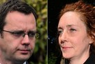 Former News of the World editor and Downing Street communications chief, Andy Coulson, (L) and Rebekah Brooks. Photo / AFP