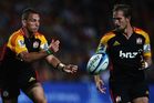 Aaron Cruden and Andrew Horrell. Photo / Getty Images.