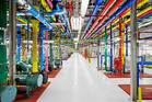 A view of the inside of one of Google's data centres. A new report from the Washington Post says the NSA broke into the the communications links between Google and Yahoo's data centres.