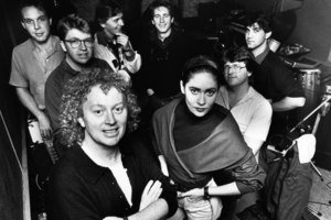 Dave Dobbyn (front, with Margaret Urlich) penned some of our most enduring pop anthems. (NZ Herald Archive)